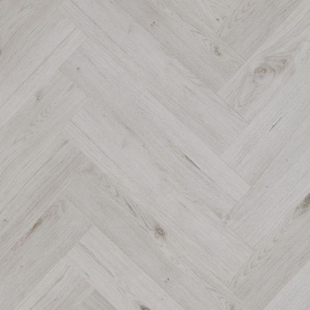 Ravello Lunar White Herringbone, White Herringbone Laminate Flooring